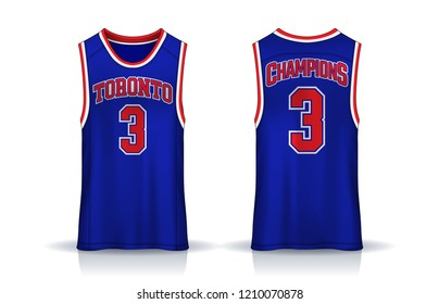 Basketball tank top design template, Sport jersey mockup. uniform front and back view.