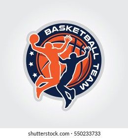 Basketball Team Championship Logo Sign Symbol Badge Icon
