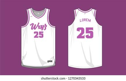 Basketball Team Jersey Uniform template vector sports jersey
