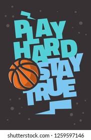 Basketball Themed Slogan T Shirt Print Design Vector Graphic