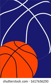 Basketball themed vector graphics teamwork. Posters can be made for sports clubs or competitions. Banner or gift card.