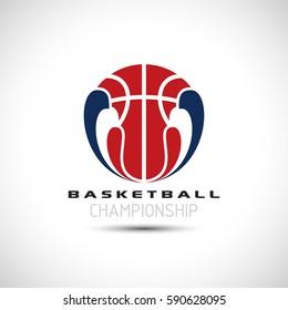 Basketball Tournament Icon. Basketball Logo Vector Illustration. Sport Poster Concept.