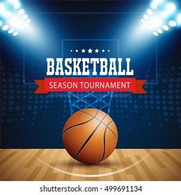 Basketball tournament, modern sports vector design.