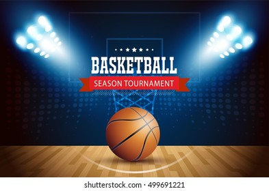 Basketball tournament, modern sports vector design.