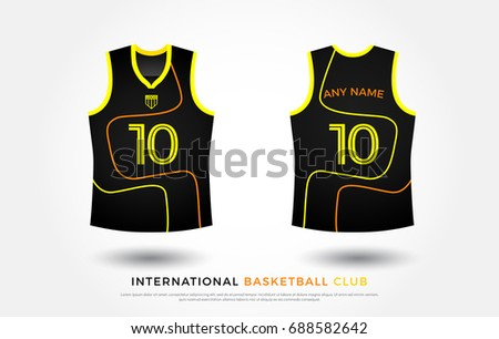 Basketball Tshirt Design Uniform Set Kit Stock Vector Royalty Free