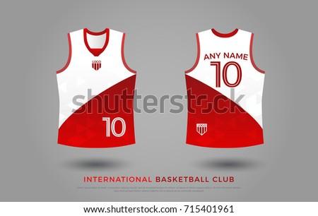 19658e08d basketball t-shirt design uniform set of kit. basketball jersey template.  white and
