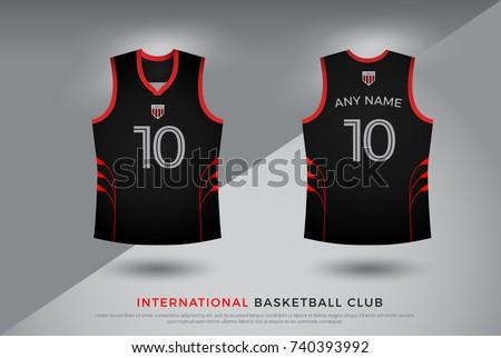 063c54811 Basketball Tshirt Design Uniform Set Kit Stock Vector (Royalty Free ...