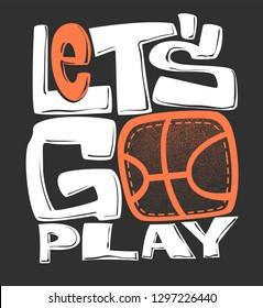 Basketball t-shirt graphics print design, vector illustration.