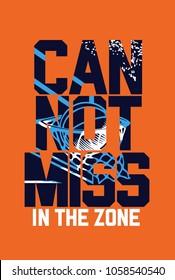 basketball t-shirt print poster vector illustration