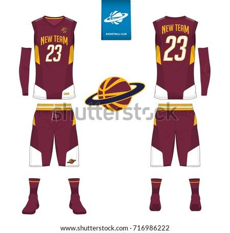 basketball uniform shorts socks template basketball のベクター画像