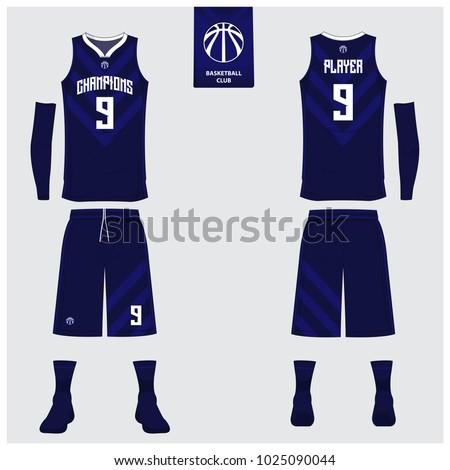 basketball uniform sport jersey shorts socks のベクター画像素材