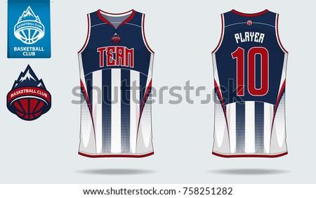 Basketball Uniform Sport Jersey Template Basketball Stock