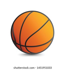 Basketball Vector Icon isolated White Background
