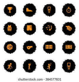 Basketball  vector icons for web sites and user interface