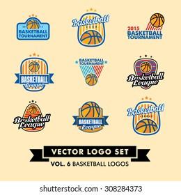 Basketball Vector Logo Set.