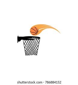 Basketball vector, sport element