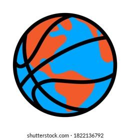 Basketball world vector illustration isolated on white background