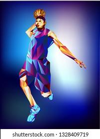 basketballist. basketball game player