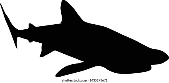 Basking Shark Silhouette Underwater Vector