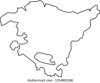 Map Of Spain Basque Region.Basque Country Map Images Stock Photos Vectors Shutterstock