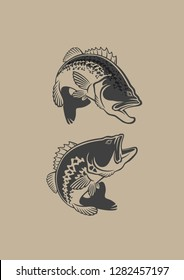 bass fish icons