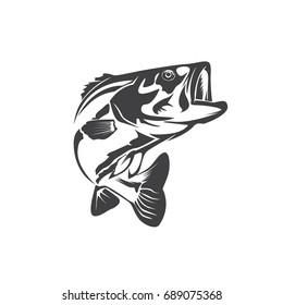Bass fish jump