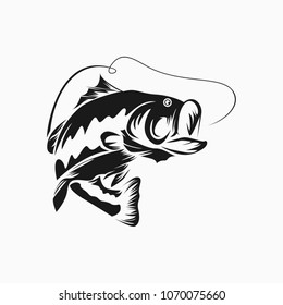 Bass Fish Vector Isolated Design