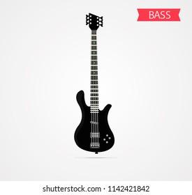 bass guitar music vector illustration