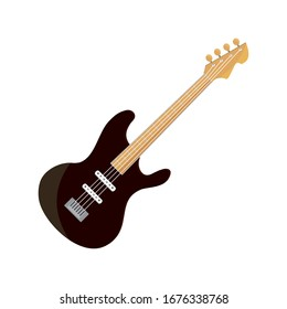 bass guitar string musical instrument vector illustration isolated icon