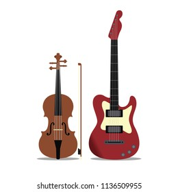 Bass and Violin Music Instrument