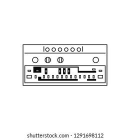 Bassline synthesizer flat vector pictogram