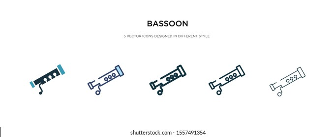 bassoon icon in different style vector illustration. two colored and black bassoon vector icons designed in filled, outline, line and stroke style can be used for web, mobile, ui