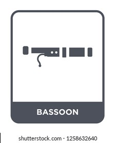 bassoon icon vector on white background, bassoon trendy filled icons from Music and media collection, bassoon simple element illustration