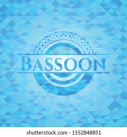 Bassoon light blue emblem with triangle mosaic background