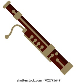 Bassoon musical instrument flat icon, vector sign, colorful pictogram isolated on white. Symbol, logo illustration. Flat style design