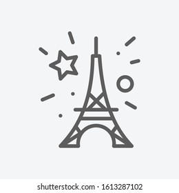 Bastille day icon line symbol. Isolated vector illustration of icon sign concept for your web site mobile app logo UI design.