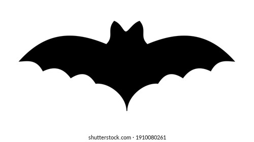 Bat with its black shadow flying in the air for the Halloween party