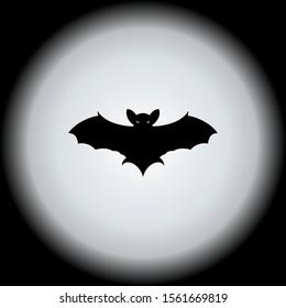bat with the full moon design vector illustration