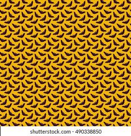 Bat halloween scary seamless vector pattern