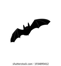 Bat Icon. Halloween vector illustration.