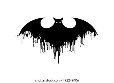 Bat icon. Halloween. Vector silhouette. Vector illustration.