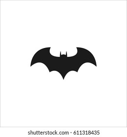 Bat icon illustration on white background.