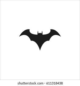 Bat icon illustration on white background.