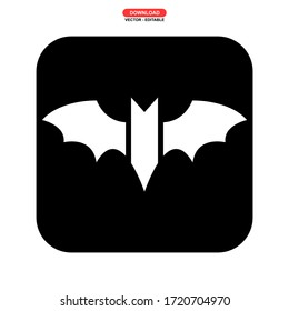 bat icon or logo isolated sign symbol vector illustration - high quality black style vector icons