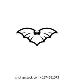 Bat icon logo vector illustration isolated on white background