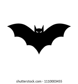 Bat icon silhouette vector