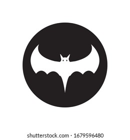 Bat ilustration logo vector template
