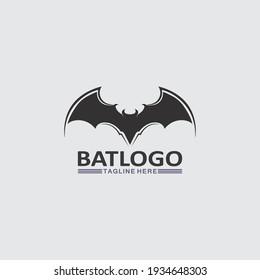 Bat logo animal and vector, wings, black, halloween, vampire, gothic, illustration, design bat icon, nocturnal