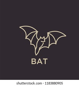 bat logo icon designs vector