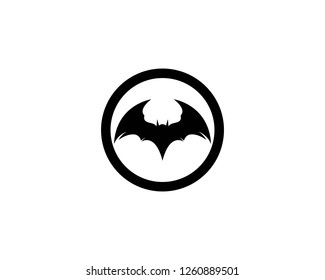 Bat logo template vector icon